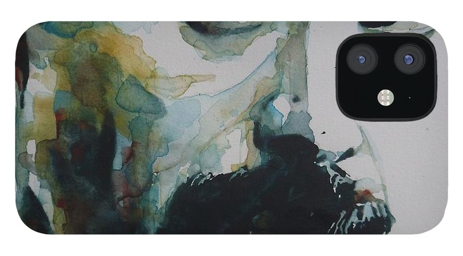 Queen IPhone 12 Case featuring the painting Freddie Mercury by Paul Lovering