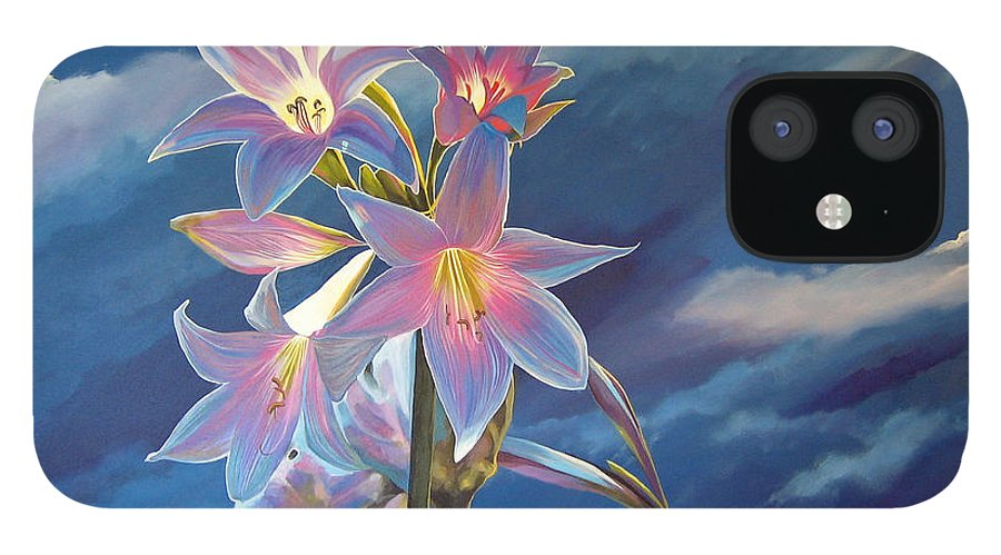 Botanical IPhone 12 Case featuring the painting Spellbound by Hunter Jay