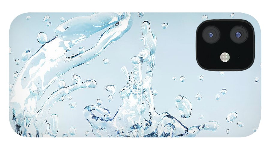 Motion IPhone 12 Case featuring the digital art Splash Of Water by Maciej Frolow