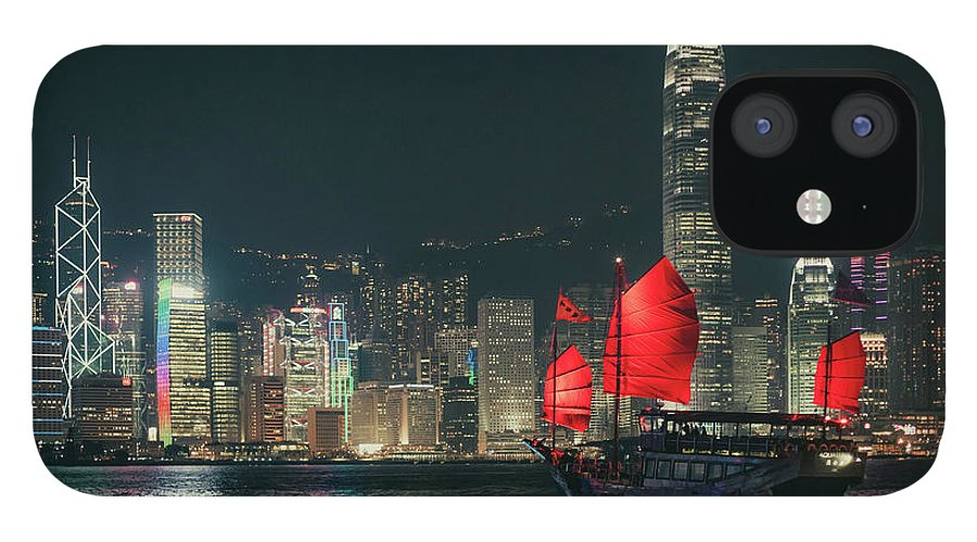 Outdoors IPhone 12 Case featuring the photograph Splendid Asian City, Hong Kong by D3sign
