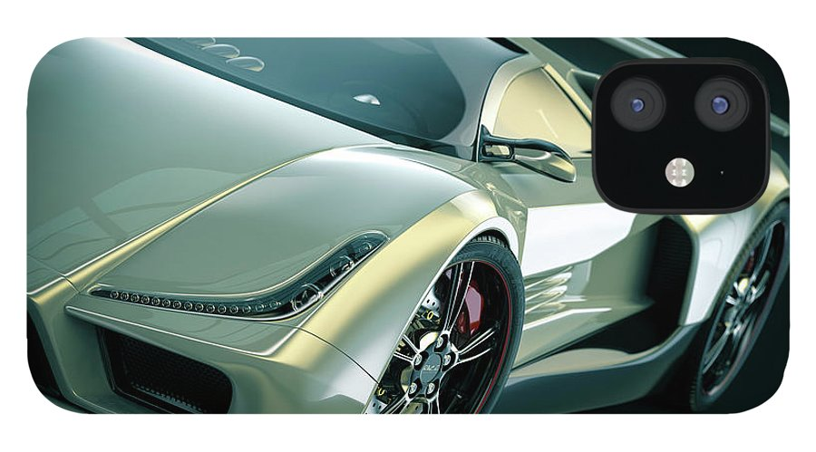 Aerodynamic iPhone 12 Case featuring the photograph Sports Car by Mevans