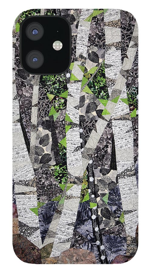 Trees IPhone 12 Case featuring the tapestry - textile Spring in the Mountains by Linda Beach