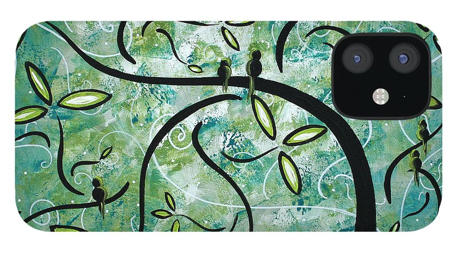Wall IPhone 12 Case featuring the painting Spring Shine by MADART by Megan Duncanson
