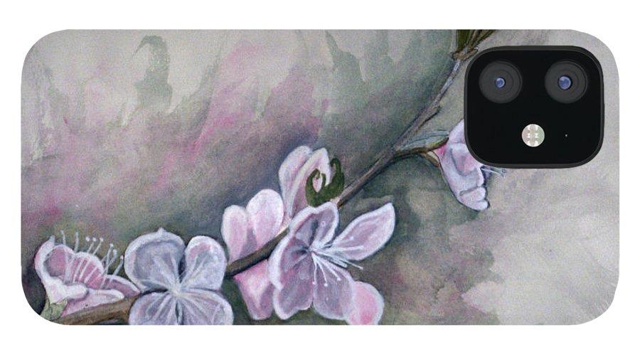Rick Huotari IPhone 12 Case featuring the painting Spring Splendor by Rick Huotari
