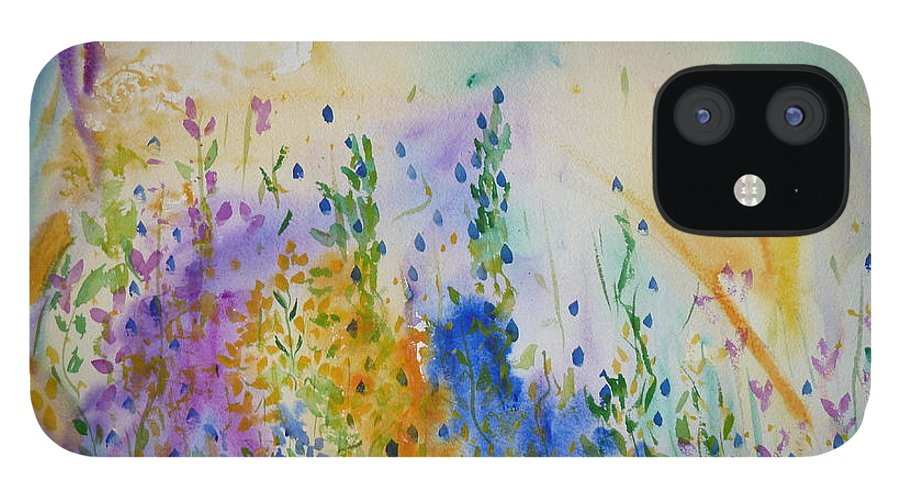 Mixed Media IPhone 12 Case featuring the painting Spring's Dawn by Phoenix Simpson