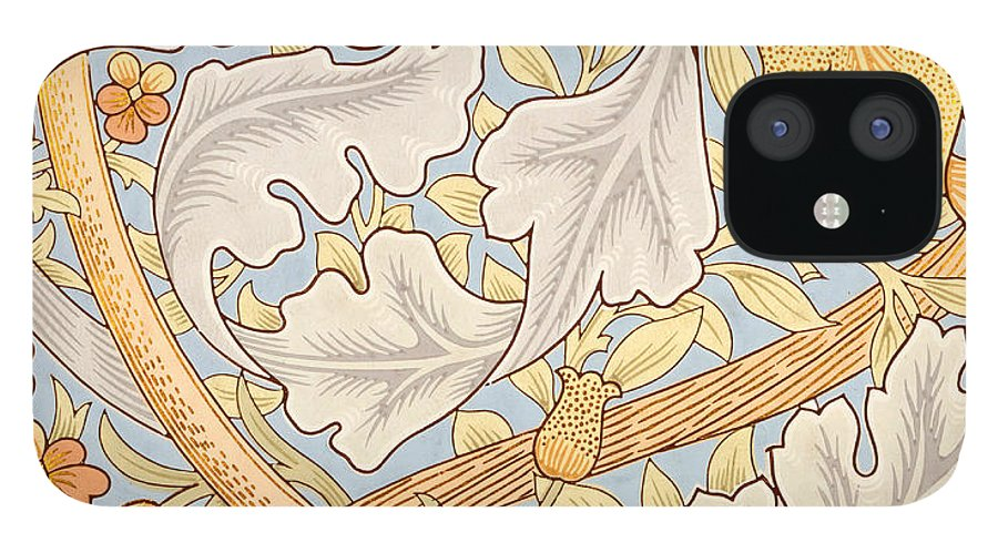 St James IPhone 12 Case featuring the painting St James Wallpaper Design by William Morris