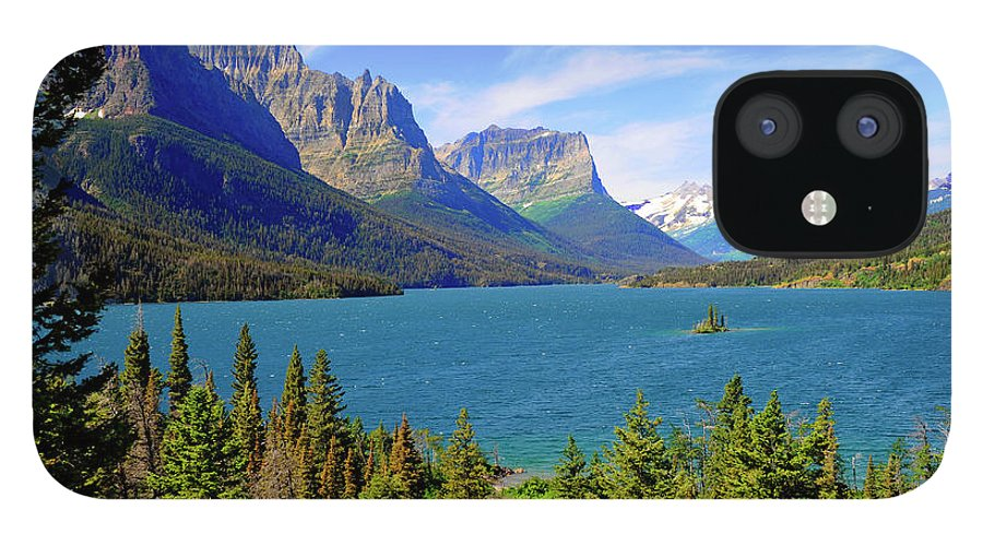 Scenics IPhone 12 Case featuring the photograph St. Mary Lake, Glacier National Park by Dennis Macdonald