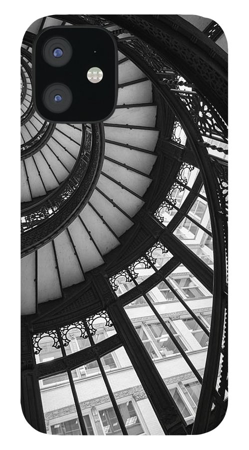 Rookery IPhone 12 Case featuring the photograph Stairwell The Rookery Chicago IL by Steve Gadomski