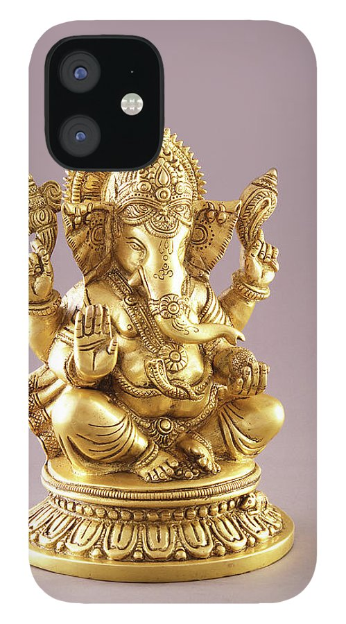 Spirituality IPhone 12 Case featuring the photograph Statue Of Lord Ganesh by Visage
