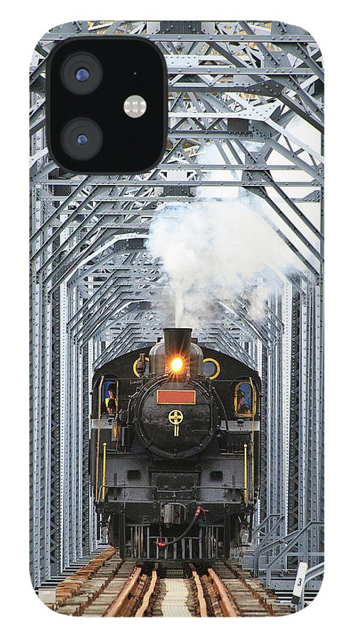 Air Pollution IPhone 12 Case featuring the photograph Steam Train by Peter Hong