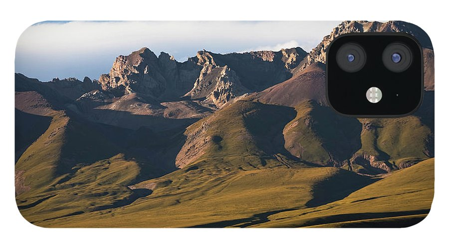 Scenics IPhone 12 Case featuring the photograph Steppe Valley With Surrounding Peaks by Merten Snijders