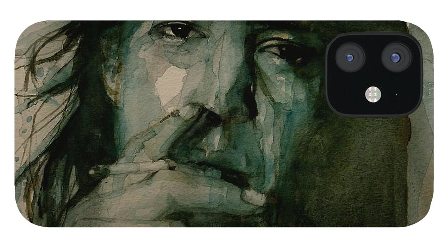 Stevie Ray Vaughan IPhone 12 Case featuring the painting Stevie Ray Vaughan by Paul Lovering