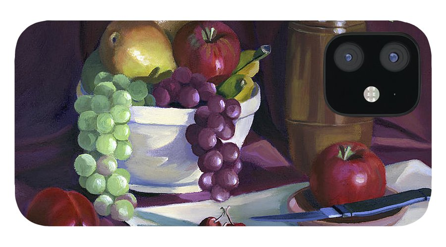 Fine Art IPhone 12 Case featuring the painting Still Life with Apples by Nancy Griswold