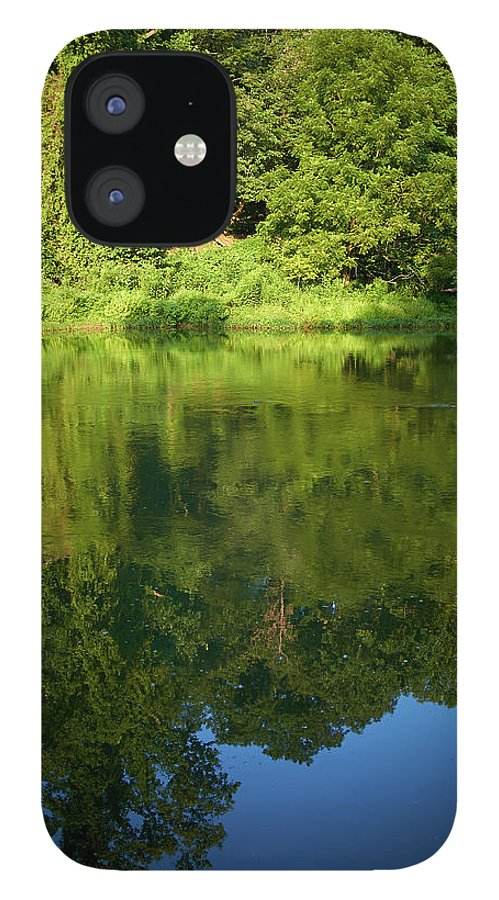 Tranquility IPhone 12 Case featuring the photograph Still Water On The Potomac River by Cameron Davidson