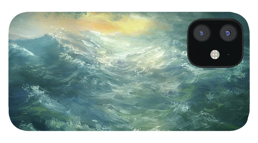 Scenics IPhone 12 Case featuring the digital art Storm Is Coming by Pobytov
