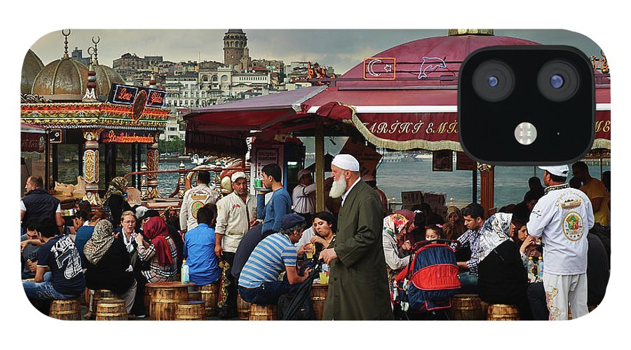 Istanbul iPhone 12 Case featuring the photograph Street Food On The Golden Horn, Istanbul by Andrea Pistolesi