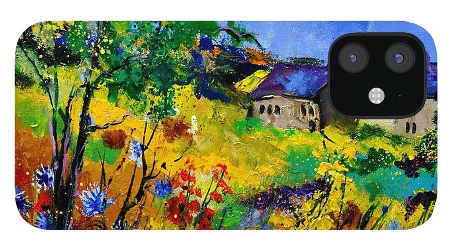 Landscape IPhone 12 Case featuring the painting Summer 673180 by Pol Ledent