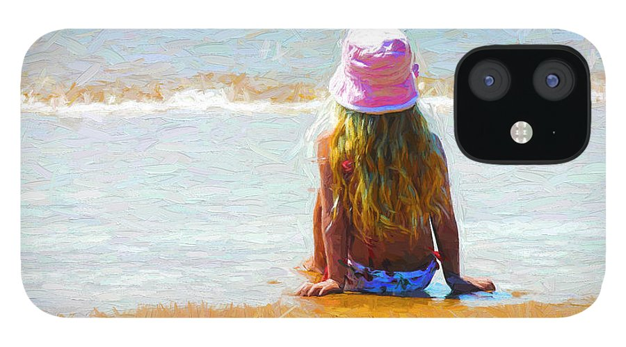 Little Girl On Beach IPhone 12 Case featuring the photograph Summertime by Sheila Smart Fine Art Photography