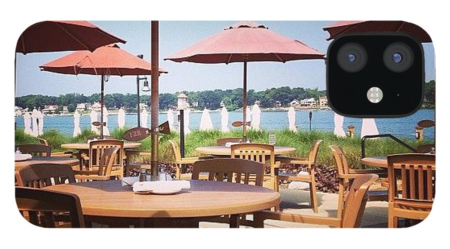 Umbrellas IPhone 12 Case featuring the photograph Sun Umbrellas by Christy Beckwith