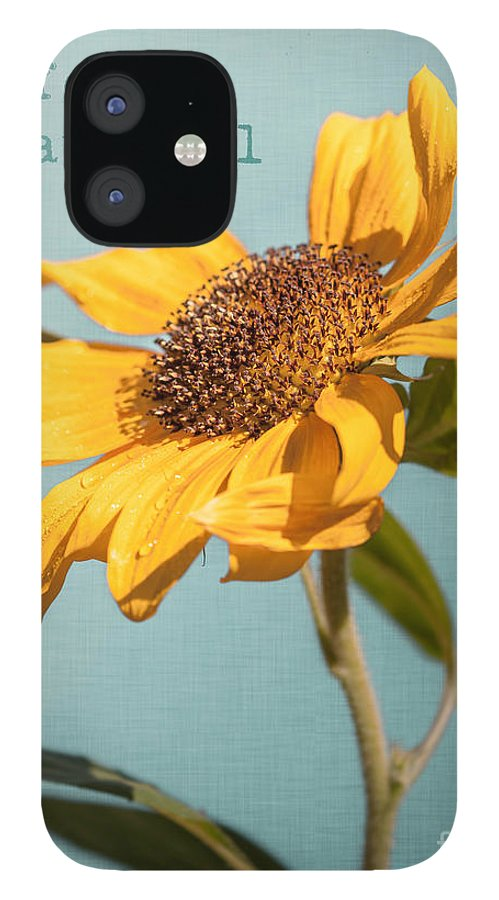 Art IPhone 12 Case featuring the photograph Sunflower by Lucid Mood