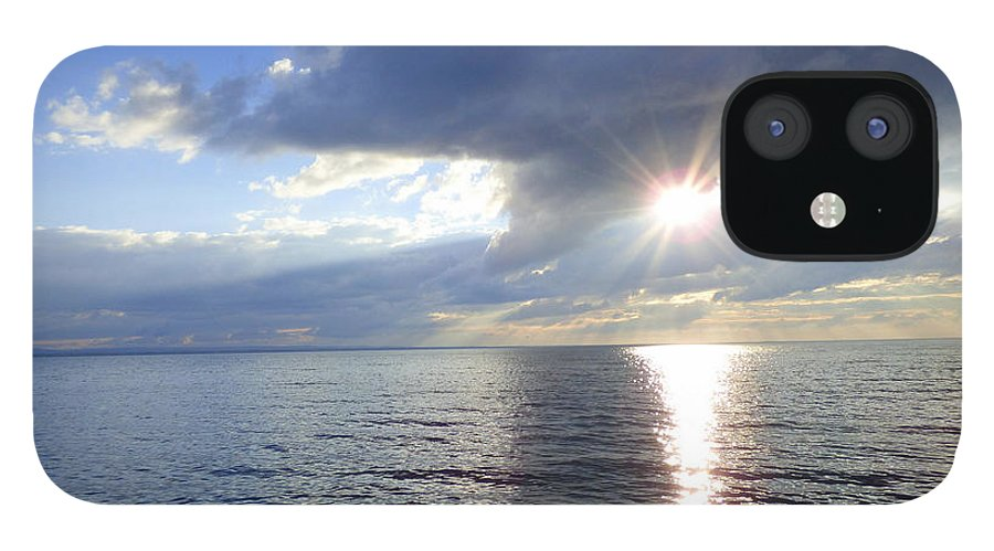 Lake IPhone 12 Case featuring the photograph Sunlight Reflections by Rennae Christman