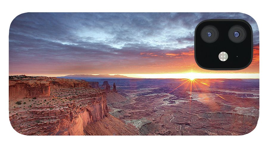 Tranquility IPhone 12 Case featuring the photograph Sunrise At Canyonlands by Hansrico Photography