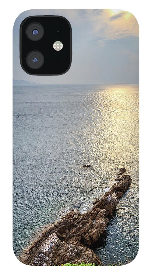 Scenics iPhone 12 Case featuring the photograph Sunrise Over The Coast Of Shenzhen by Feng Wei Photography
