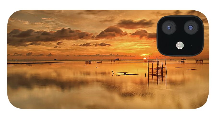 Scenics iPhone 12 Case featuring the photograph Sunrise, Phu Quoc, Vietnam by Huyenhoang