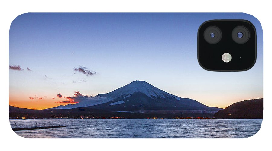 Tranquility IPhone 12 Case featuring the photograph Sunset Mt. Fuji by Daisuke Tashiro