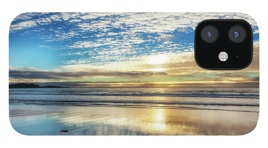 Tranquility IPhone 12 Case featuring the photograph Sunset On Carmel Beach, California by Alvis Upitis