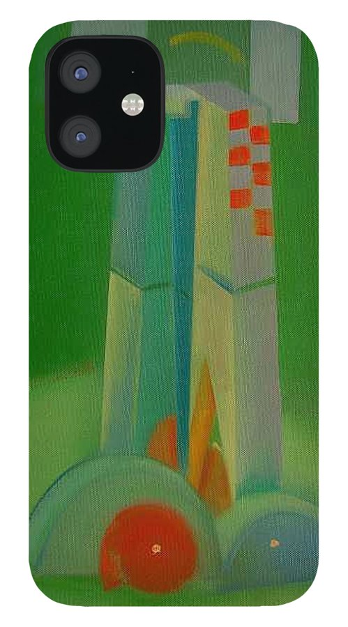 Cubist View Of Figure IPhone 12 Case featuring the painting Survivors by Charles Stuart