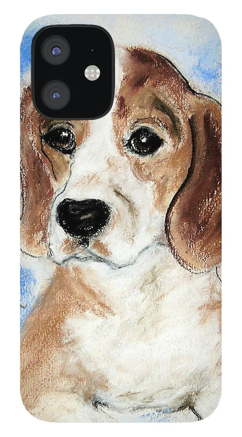 Dog IPhone 12 Case featuring the drawing Sweet Innocence by Cori Solomon