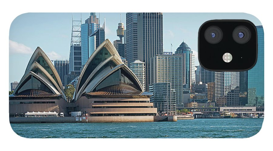 Built Structure IPhone 12 Case featuring the photograph Sydney Opera House And Waterfront by Marco Simoni