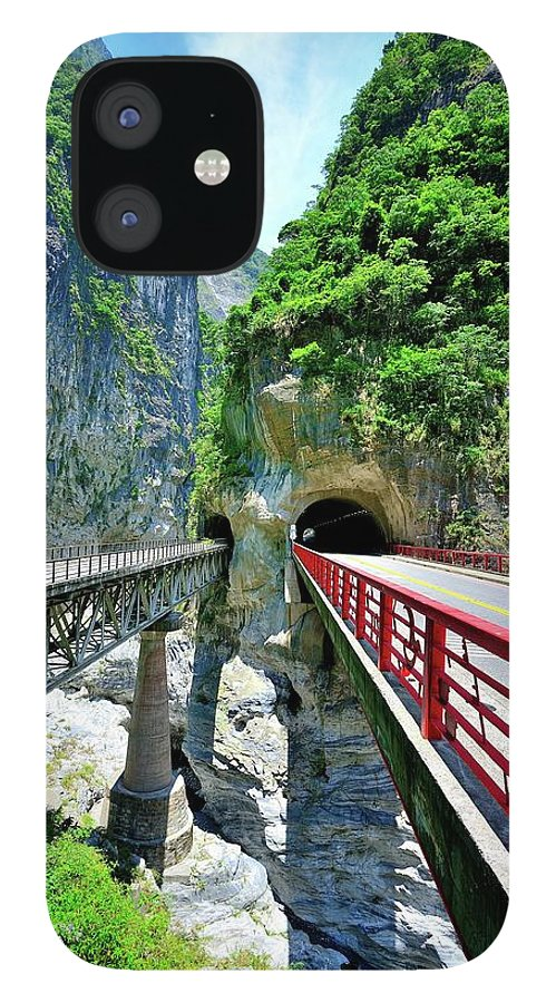 Built Structure IPhone 12 Case featuring the photograph Taroko Gorge by Photography By Anthony Ko