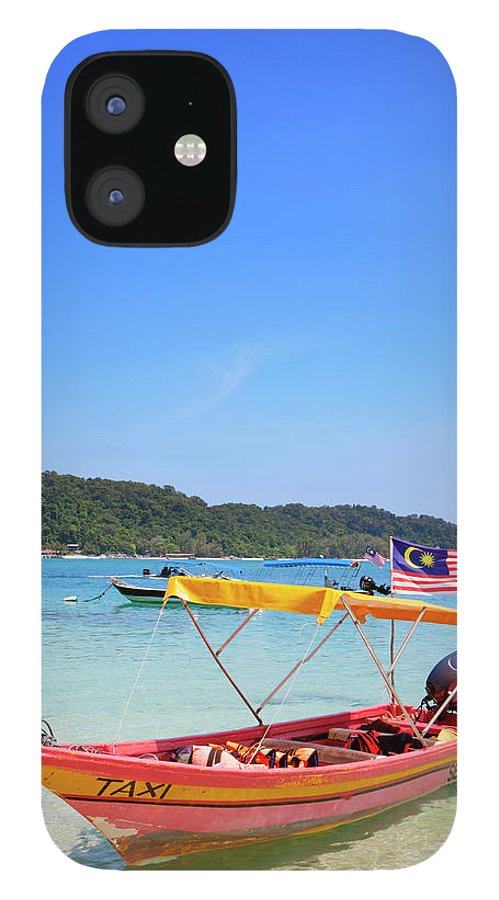 Tranquility iPhone 12 Case featuring the photograph Taxi Boat, Perhentian Islands by Laurie Noble