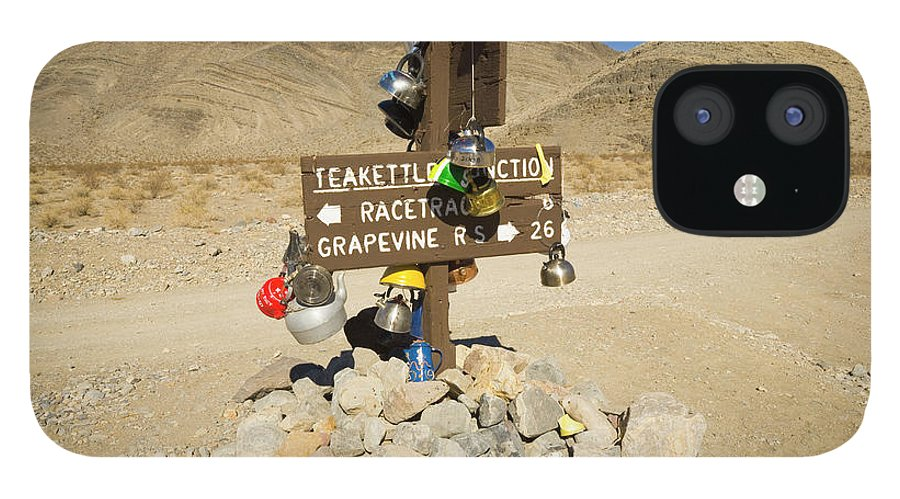 00431203 iPhone 12 Case featuring the photograph Teakettle Junction in Death Valley by Yva Momatiuk and John Eastcott