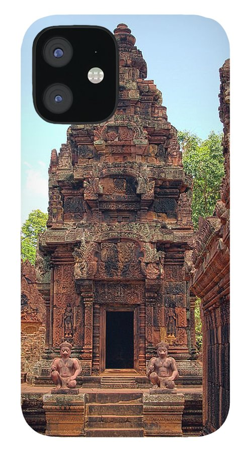 Cambodian Culture IPhone 12 Case featuring the photograph Temple by William Childress