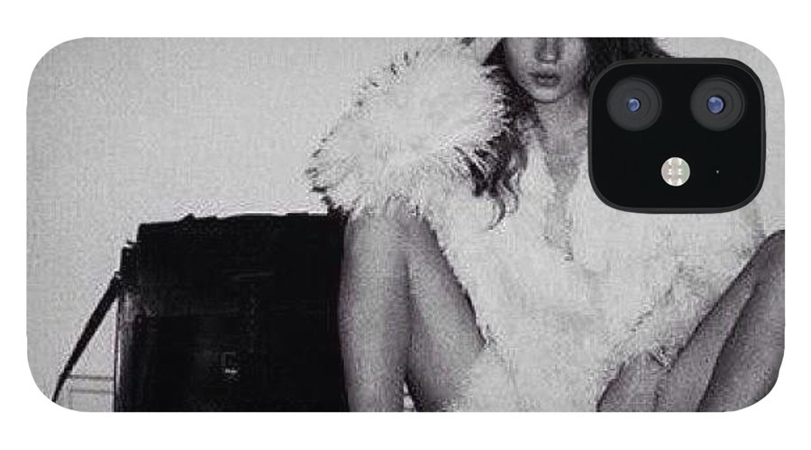 Loveit IPhone 12 Case featuring the photograph That's My #bitch #katemoss #icon by Dvon Medrano