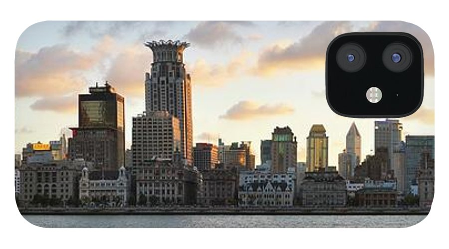 Panoramic iPhone 12 Case featuring the photograph The Afternoon Of The Bund Buildings by Fine
