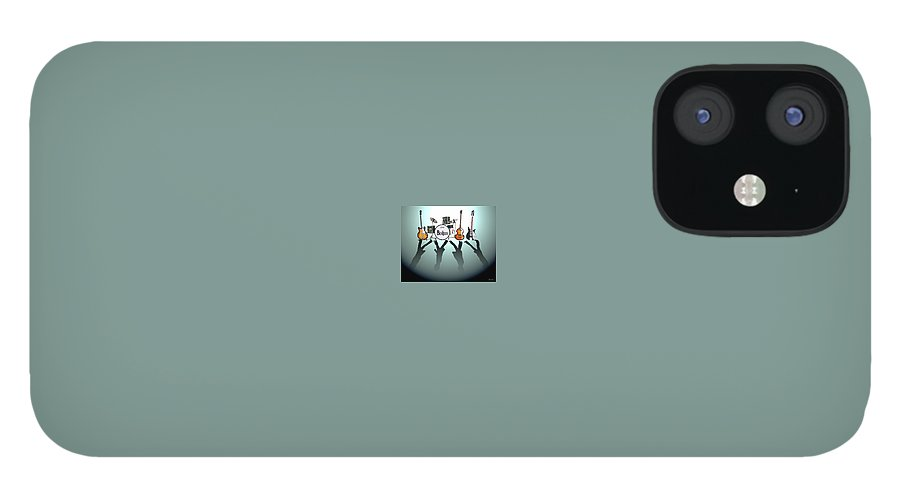 The Beatles IPhone 12 Case featuring the digital art The Beatles by Yelena Day