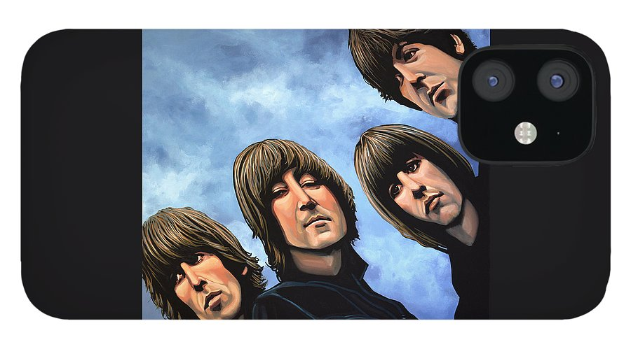 The Beatles IPhone 12 Case featuring the painting The Beatles Rubber Soul by Paul Meijering