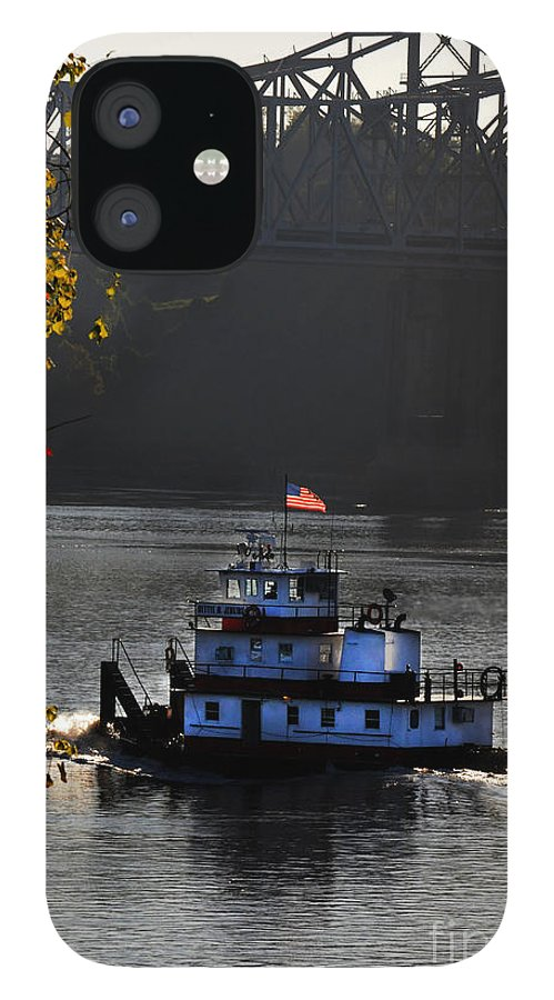 Tugboat IPhone 12 Case featuring the photograph the BettyeJenkins by Leon Hollins III