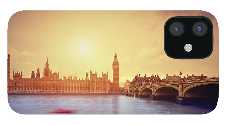 Clock Tower IPhone 12 Case featuring the photograph The Big Ben And Parliament In London by Mammuth