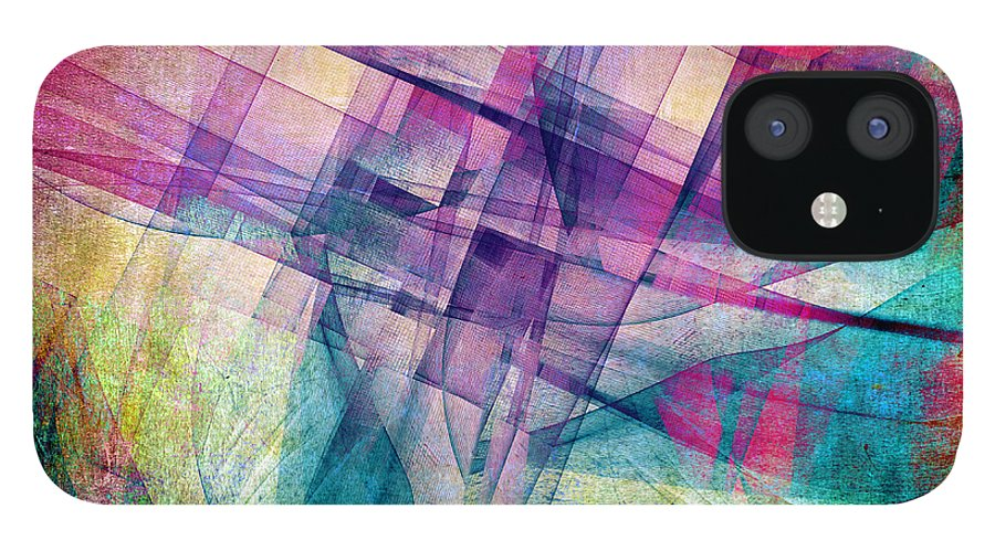 Buildings Block iPhone 12 Case featuring the digital art The Building Blocks by Angelina Tamez