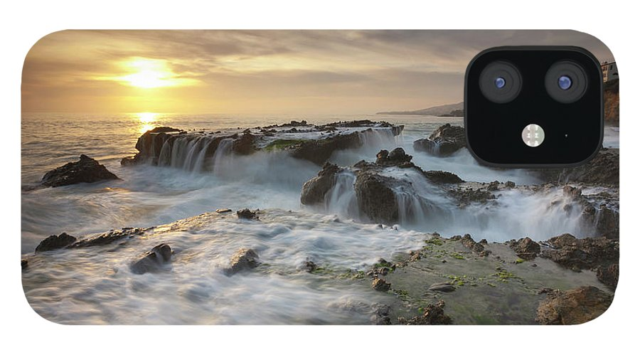 Scenics iPhone 12 Case featuring the photograph The Cauldron - Victoria Beach by Images By Steve Skinner Photography