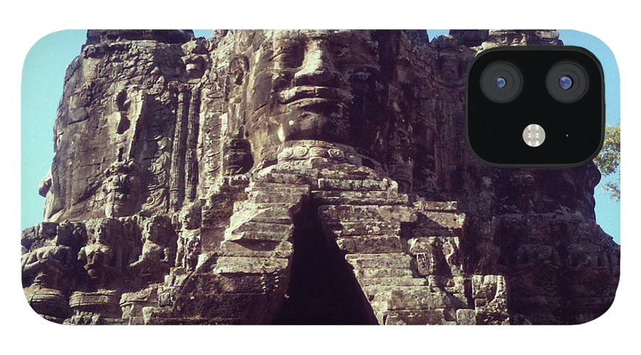 Arch IPhone 12 Case featuring the photograph The City Gates At Angkor by Lasse Kristensen