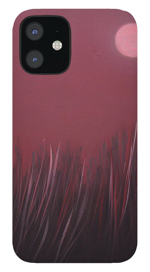 Landscape IPhone 12 Case featuring the painting The dusk by Sergey Bezhinets