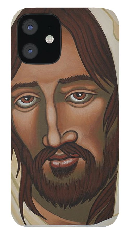 Jesus IPhone 12 Case featuring the painting The Galilean Jesus 266 by William Hart McNichols