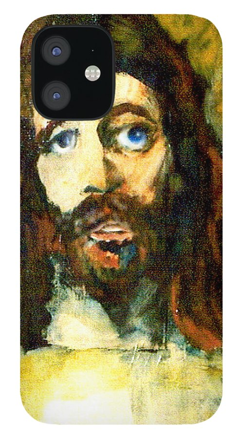 Jesus Christ IPhone 12 Case featuring the painting The Galilean by Seth Weaver