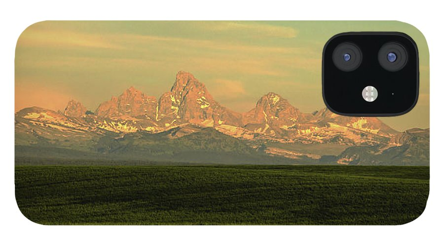 Scenics IPhone 12 Case featuring the photograph The Idaho Side Of The Grand Tetons by ©anitaburke
